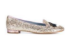 slippers con brillo champagne Chiara Ferragni