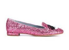 slippers con brillo rosa Chiara Ferragni