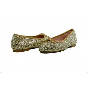 Bailarinas brillantes glitter dorado