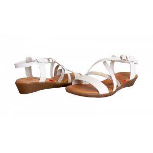 sandalias comodas con tiras cruzadas