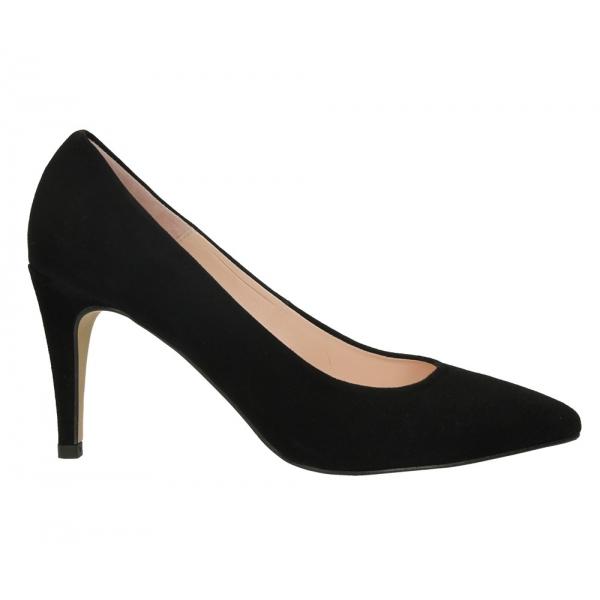 Las Bailarinas de Eloísa, Zapato de salón en ante negro tacón alto