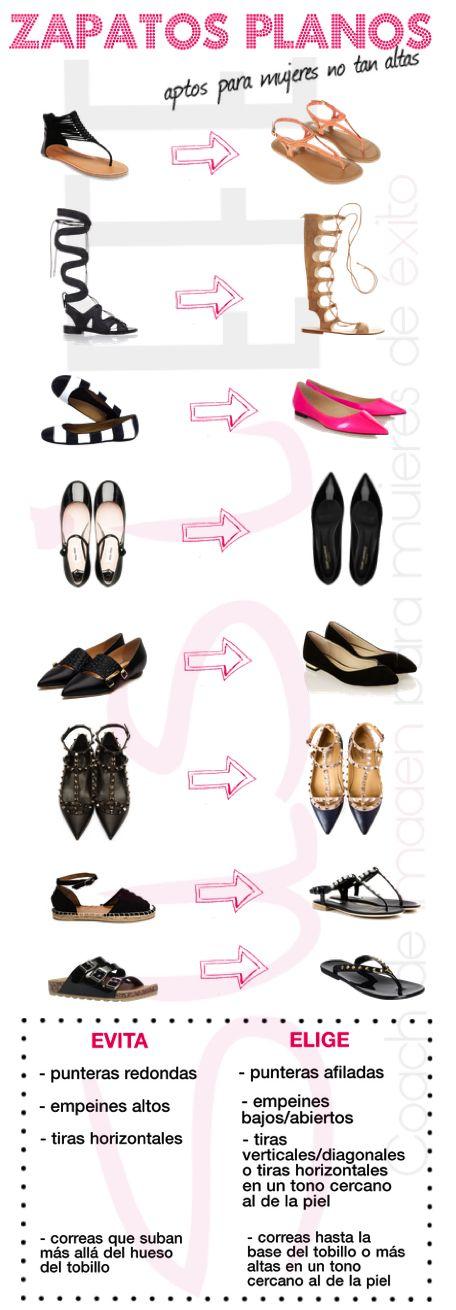 Calzado plano para mujeres bajitas