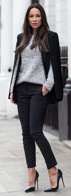 Look casual estilo Londres con zapatos de tacón