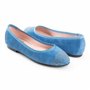 bailarinas planas en azul