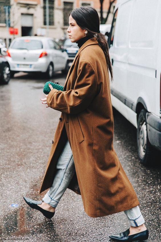 slippers de piel con abrigo marrón