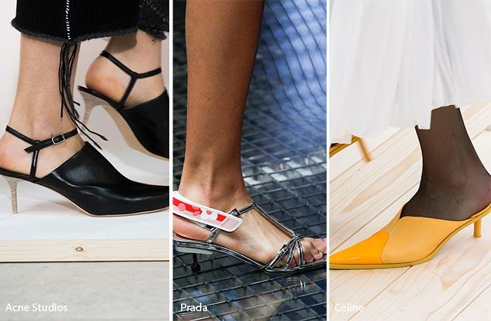 "Zapatos de moda primavera 2017 ""Kitten heels"""