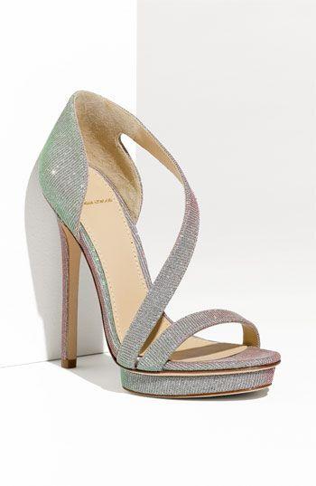 Sandalias plateadas zapatos para boda