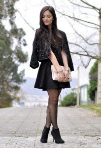 Botín con falda